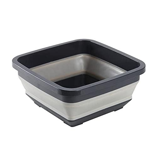HHFZH Lavabo plegable, resistente y resistente a la caída, lavabo de almacenamiento plegable, para el hogar, viajes, camping, limpieza del hogar