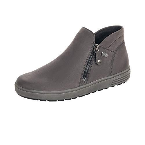 Remonte Damen Stiefeletten, Frauen Ankle Boots,remonteTEX, halbstiefel knöchelhoch reißverschluss weiblich Lady,Grau(Granit),39 EU / 6 UK