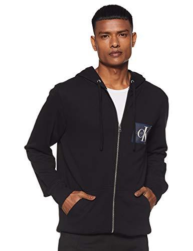 Calvin Klein Jeans Men's Cotton Sweatshirt (J312584099_Ck Black_L)