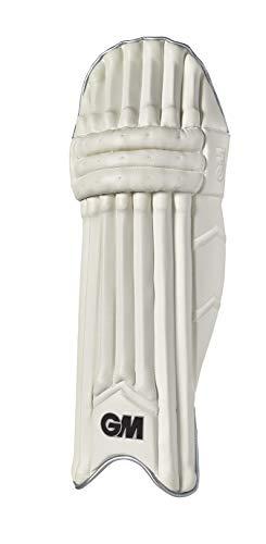 GM Cricket Original Limited Edition Batting Pad, Unisex, 50201912, Weiß/Silber/Schwarz, Large Adult LH