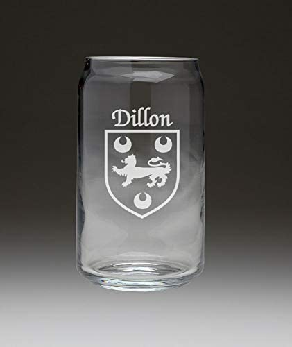 Financial sales sale Dillon Irish Coat of Arms Beer Glass Set Can - NEW before selling ☆ 4