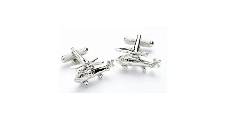 Nouveauté design – Boutons de manchette Homme – Hélicoptère