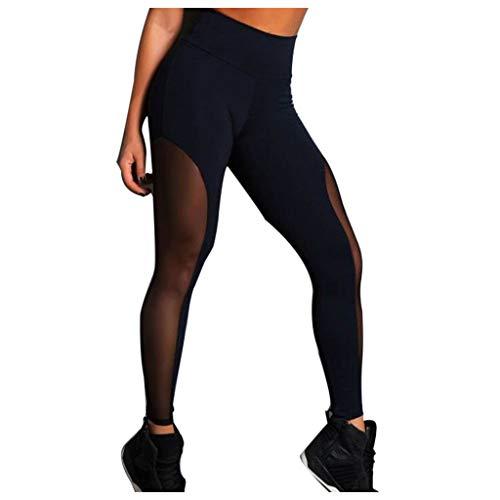 Xmiral Pantaloni Tuta Donna Vintage Leggings Sportivi Donna Push Up - Eleganti Leggings Sport Opaco Yoga Fitness Spandex Palestra Pantaloni Leggins Abbigliamento fitness donna (2- nero, S)