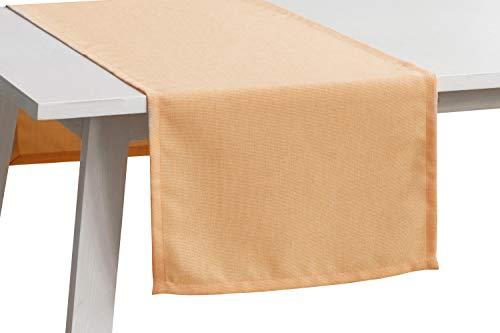Pichler Tischwäsche Serie 'Panama', Peach, Größe:Tischdecke 150 x 250 cm