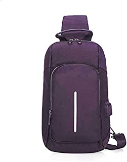 HAWEEL Anti-Theft Classic Retro Messenger Travel Multi-Function Nylon Portable Casual Chest Bag Outdoor Sports Shoulder Bag with Earphone Line Hole (Black) Sling Crossbody Mini Purse One Size