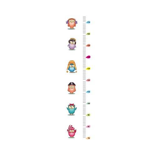 SCOLEFE Wandaufkleber Dschungel-Tiere Owl-Höhen-Maß-Wand-Aufkleber for Kind-Raum Growth Chart Kinderzimmer Dekor-Wand-Abziehbilder Art Aufkleber Muraux