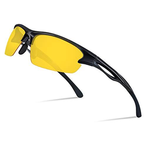 Goiteia Nachtsichtbrille Autofahren Herren Damen- Nachtfahrbrille Polarisierte Nchtbrille zum Autofahren UV400-Schutz Reduzieren die Blendung des Scheinwerfers, Einstellbare Nasenpads