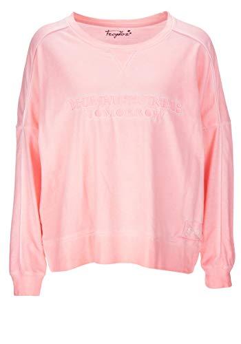 FROGBOX Damen - Sweatshirt - neon - Peach - Stickerei - froginlove (S)