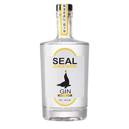 SEAL GIN – LEMON INSIDE 1 x 0.5 l | London Dry Gin mit Zitronen-Aroma | Botanicals mit Noten von Zitrone, Brombeere, Süssholz | 44% vol. alc. | made in Germany | Geschenk für Gin-Liebhaber