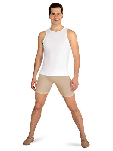 Body Wrappers Mens Dance Shorts M192NUDL Nude Large