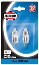 Eveready 6X 10W 12V G4 Dimmable Halogen Capsule Light Bulbs - Pack of 6