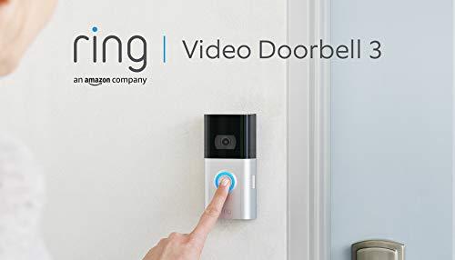 Ring Video Doorbell 3 von Amazon | HD-Video (1080p), verbesserte Bewegungserfassung | Mit 30-tägigem Testzeitraum für Ring Protect