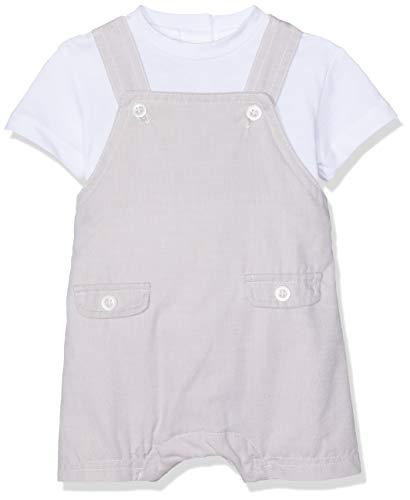 Chicco Completo T-Shirt Manica Salopette Corta Peto Bebe, Blanco (Naturale Chiaro 060), 74 (Talla del Fabricante: 074) para Bebés