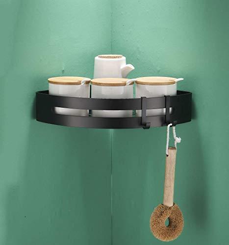 Colgador y organizador de pared para fregonas etc. trapeadores cepillos 2, NEGRO Acobonline Colgador de escobas