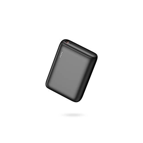 BABAKA Mini Powerbank 10000mAh Externer Akku PD 18W USB C Power Bank Kompaktes Leichtes Tragbares Ladegerät mit Power Delivery Schnellladefunktion für iPhone Samsung Huawei iPad - Schwarz