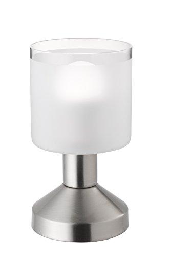 Reality Leuchten Tischleuchte, Metall, Nickel matt, 9 x 9 x 16.5 cm