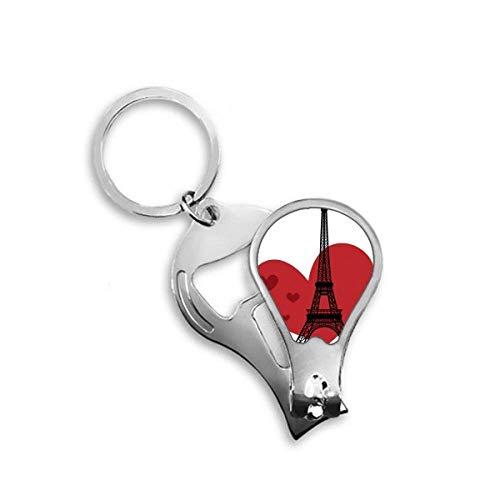 DIYthinker Love Heart Tour Eiffel France Haut-lieu touristique Toenail Clipper Cutter