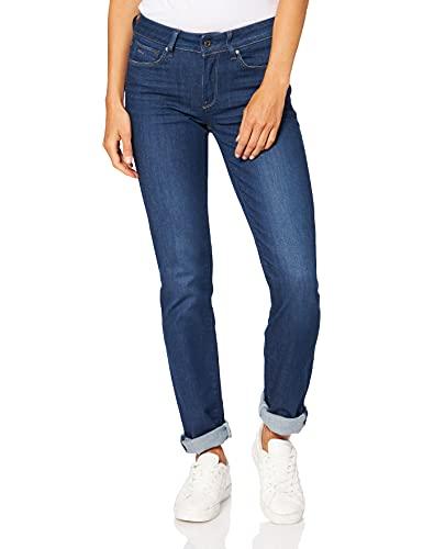 G-Star - 3301 Contour High Straight - Benwick stretch denim, Pantolon straight da donna, blu (Benwick stretch Denim in Dark Aged), 27W x 32L