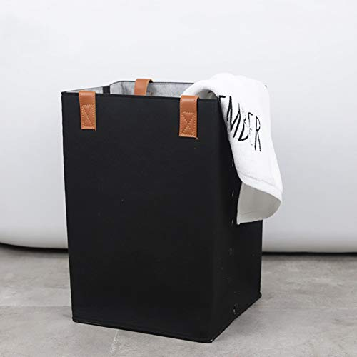 TOBY Grande Panier à Linge Portable, Vêtements Sales Compartiment Un Transport aisé Folding Ménage Essentials Dortoir de collège-A 30x30x40cm(12x12x16inch)