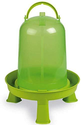 Hühnertränke 1,5, 3 oder 5 ltr. grün I Beheizbare Geflügeltränke für Hühner I Aufhängbarer Wasserspender I Automatische Wassertränke, Tränke, Hühnerzubehör I Geflügel Zubehör Zucht I Vogeltränke