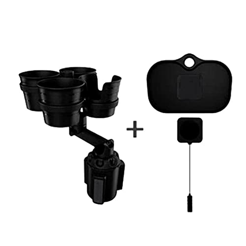 Galiy Car Cup Holder Extender Tray Adjustable Expandable Car Cup Holder Adapter with 4 Cup Slots 4 in 1 360 Degree Rotating Auto Cup Extender