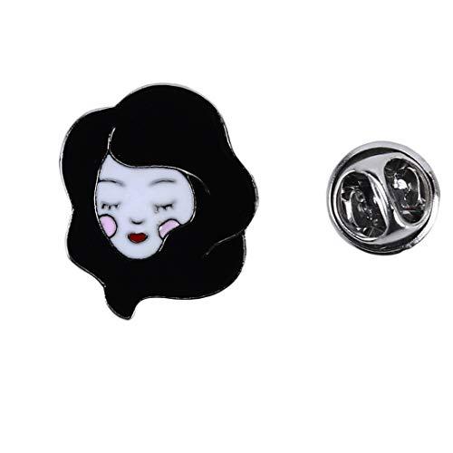 Weryffe Elegante broche de aleación para mujer, jersey, sombrero, camiseta, decoración, pin, baño, ropa, accesorios, regalos, para amigos familiares (negro)