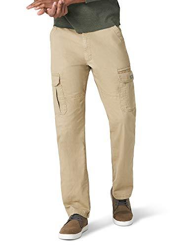 Wrangler Authentics Men's Stretch Cargo Pant, Elmwood, 42W x 30L
