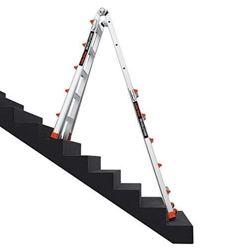 Little Giant Ladders, Revolution, M22, 22 ft, Multi-Position Ladder, Aluminum, Type 1A, 300, 300 lbs weight rating, (12022)