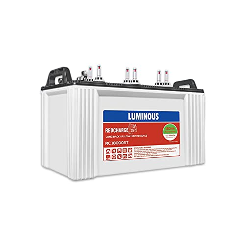 Luminous Red Charge RC 18000ST 150 Ah Recyclable Short Tubular Inverter Battery for Home,...
