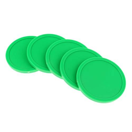 Tenlacum Lufthockey-Ersatzpucks für Lufthockey-Tische in voller Größe, 82 mm, 5 Stück, grün