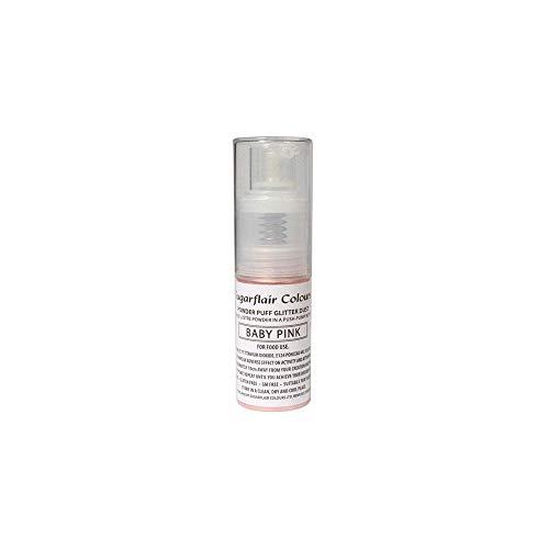 Sugarflair Powder Puff Glitter Nicht-Aerosol Spray - Kuchen Dekoration (Baby Pink (Rosa))