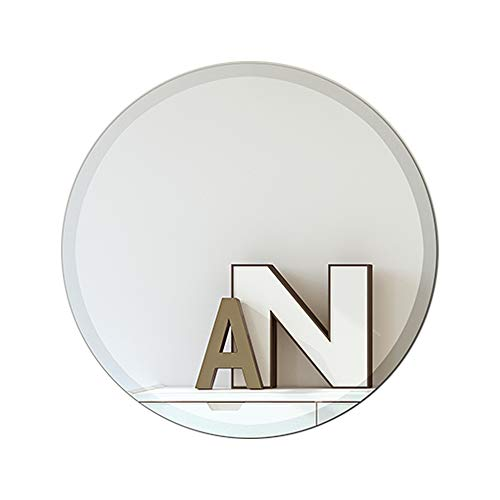 MEMOLIN Round Mirror 24' Diameter Frameless Polished Edge Modern Decor for Entryways, Bathrooms, Living Rooms