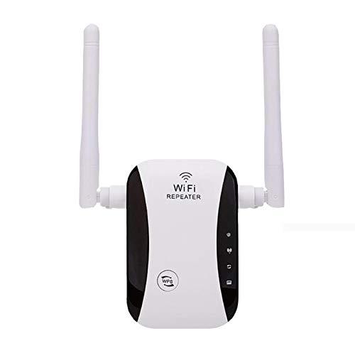 LICIN Amplificador de Internet | Repetidor WiFi | 300 Mbps/con Antenas externas duales de 2,4 GHz | Adaptador de Red de fácil configuración y Cobertura Total para el hogar y la Oficina. US