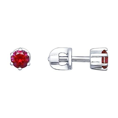 Mirkada - Pendientes de plata para mujer, con rubí, color rosa