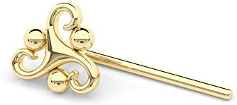 Indian Nose Stud Gold Plated Silver Mandala Nose Pin Piercing Ethnic Tribal Dainty Style 20g product image
