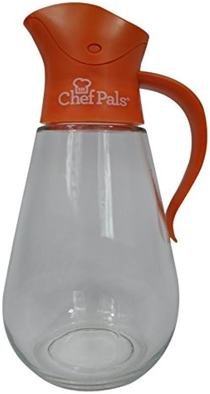 Chef Pals BOT 102 Auto Flip Series Syrup Dispenser Bottle Orange