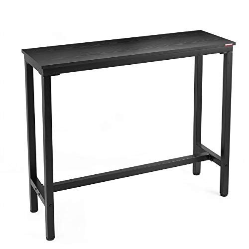 "Mr IRONSTONE Bar Table, 47"" Rectangular Kitchen Pub Dining Coffee Table High Writing Computer Table, for Narrow Space, Living Room, Dining Room-Sturdy Metal Frame, Easy Assembly, Industrial Design"