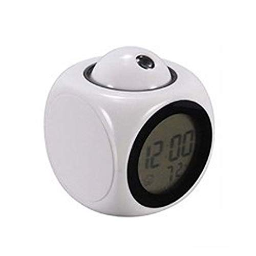 Multifunktions-Projektionsuhr, LED, bunt, Projektionswecker, Sprachbericht, Projektionsuhr