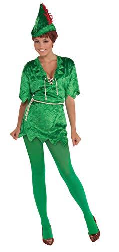 Forum Novelties Women's Peter Pan Costume, Green, Medium/Large