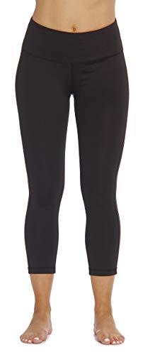 Just Love Capri Yoga Pants For Women With Hidden Waistband Pocket, Black, X-Large