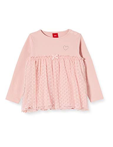 s.Oliver Baby-Mädchen 59.911.31.7685 Langarmshirt, Rosa (Rose 4259), (Herstellergröße: 86)