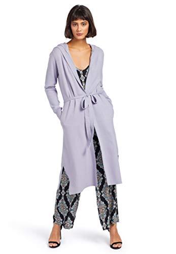 khujo Damen Cardigan BERDINI Lange Strickjacke mit Kapuze aus weichem Feinstrick