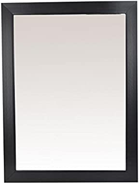 999Store Fiber Framed Large Decorative Wall Mirror Black (24X18 Inches)