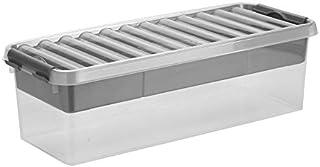 Sunware Q-Line Boîte de rangement multi-usages avec insert Transparent métallique 9,5 l