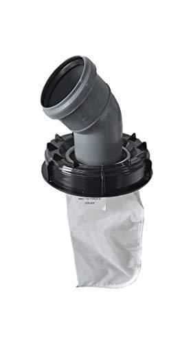 VOXTRADE IBC Deckel Filter Nylon AUSWASCHBAR mit Deckel für Regenwassertank IBC 1000 Liter -Top Qualität- (160mm 45 Grad Bogen)