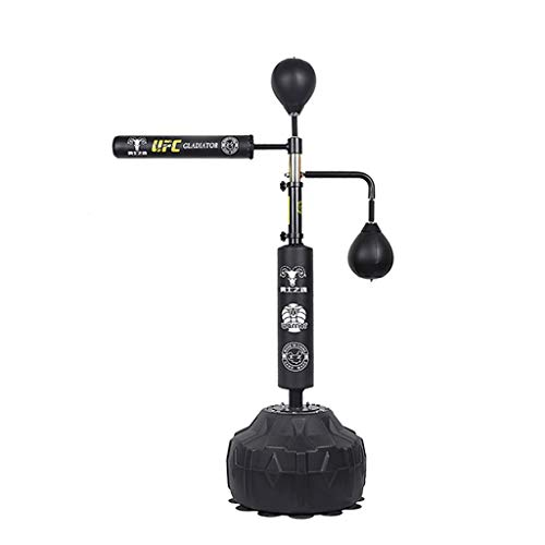 LZY Reflex Bag with Spinning Bar Adjustable Height Freestanding Punching Bag with Stand, Speed Bags for Boxing Kickboxing Bag Boxing Equipment for Kids Teens Adults Training at Home (Color : Black)