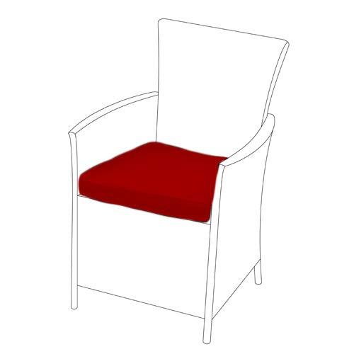 Gardenista | Garden Replacement Seat Cushion for Garden Rattan Chair Outdoor Patio Furniture (1Pcs, Red)