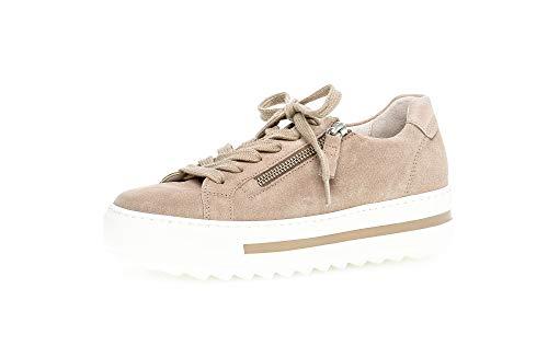 Gabor Damen Sneaker, Frauen Low-Top Sneaker,Comfort-Mehrweite,Reißverschluss,Optifit- Wechselfußbett, strassenschuh schnürer,Silk,39 EU / 6 UK