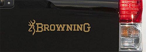 Terra Nomade Browning Buckmark-Aufkleber, Vinyl, 270 mm, 2 Stück