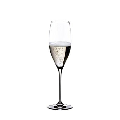 RIEDEL Champangerglas-Set, 2-teilig, Für Champanger und Prosecco, 230 ml, Kristallglas, Vinum, 6416/48
